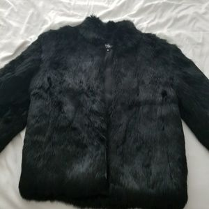Flash sale!!! Authentic Black Rabbit Fur Jacket